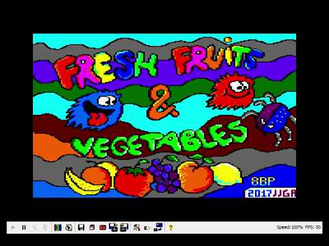 "juego ""Fresh Fruits & vegetables"" para amstrad CPC en BASIC usando 8BP"