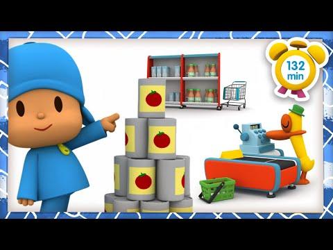 🛒 POCOYÓ en ESPAÑOL - Día de compras [132 min] CARICATURAS y DIBUJOS ANIMADOS para niños