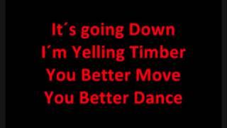 Timber full song and lyrics