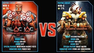 REAL STEEL WRB FINAL Blac Jac VS TRI GORE (Champion)(279) New Robots UPDATE Живая Сталь
