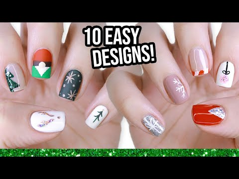 10 Easy Nail Art Designs For Beginners: The Christmas Edition!