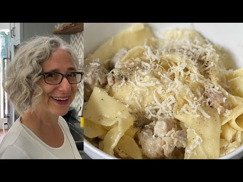 Pappardelle with Creamy Chicken Sauce   Simple yet Delicious Recipe   Everyday Food