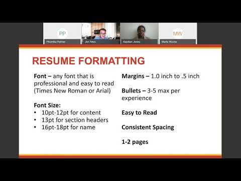 UDC Career Readiness Webinar:  Building your Resume