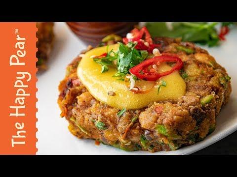 Bombay Potato Cakes with Mango Chutney | The Happy Pear
