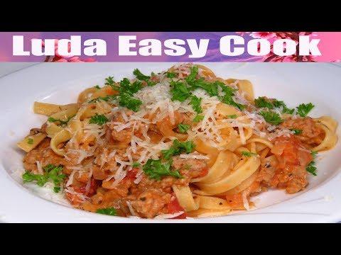ОБЕД ПО РАСПИСАНИЮ! Лапша с Фаршем за 15 минут   Pasta Tomato Sauce