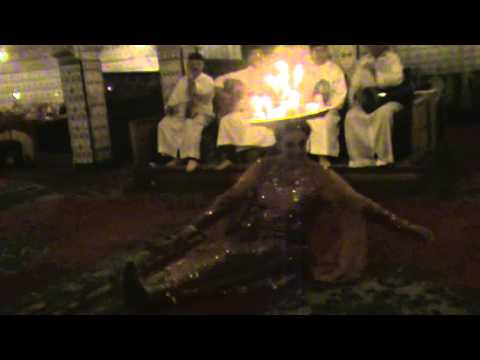 Traditional Moroccan candle tray dance