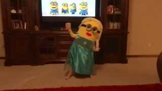 Minion Elsa (she's 5) - Watch Me Whip Nae #WatchMeDanceOn