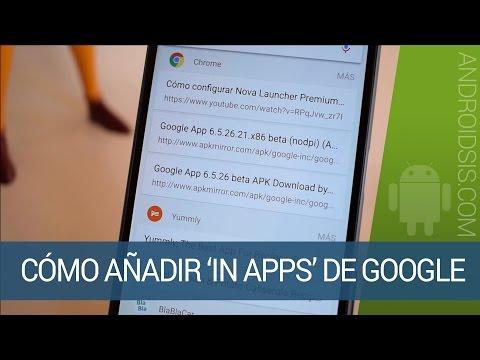 Cómo añadir 'In Apps' para buscar en tus apps a través de Google