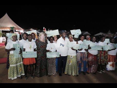 Le Président OUATTARA a pris part à la cérémonie de remise de dons et de chèques FAFCI