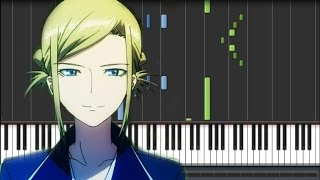 K Anime (アニメ「K」) OST - KnocK-on Effect (Piano Synthesia Tutorial + Sheet)