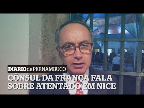 C�nsul da Fran�a fala sobre atentado em Nice
