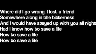 How to save a life the fray tablatura para contra baixo cifra club how to save a life the fray lyrics ccuart Images