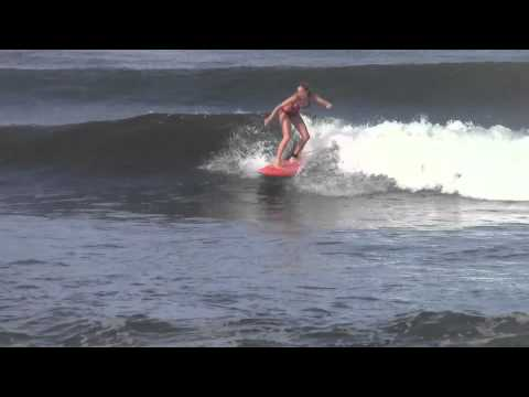 Chelsea Denning Improves Her Surfing with Amigas