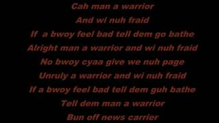 Popcaan    Warrior Lyric Video