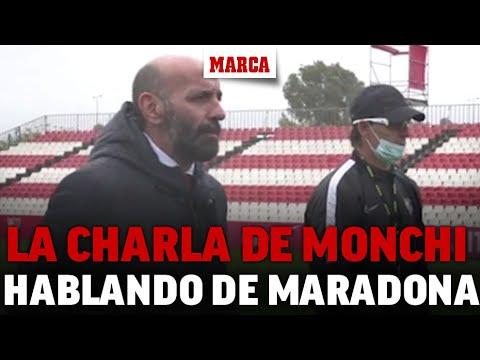 La charla motivadora de Monchi a la plantilla hablando de Maradona: «No habrá nadie que…» I MARCA