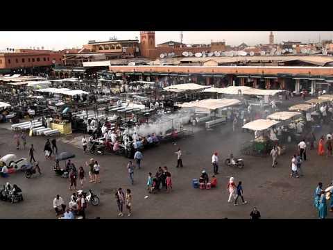 モロッコ・マラケシュのフナ広場を定点カメラで②(10.09.23)