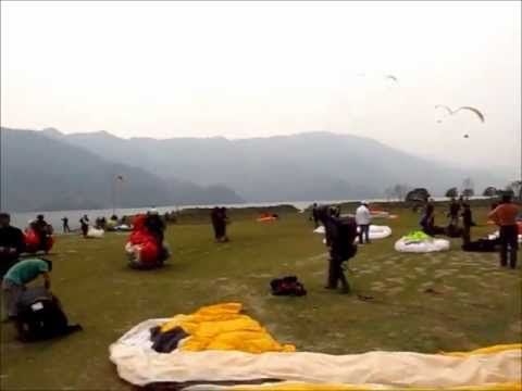 Paragliding in Pokhara, Nepal