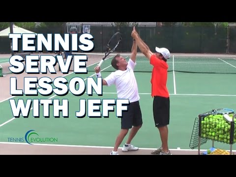 TENNIS SERVE LESSON | Tennis Lesson On The Serve
