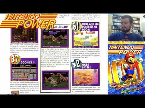 TOP 100 Juegos de consolas Nintendo (según NINTENDO POWER) --- Análisis de la lista