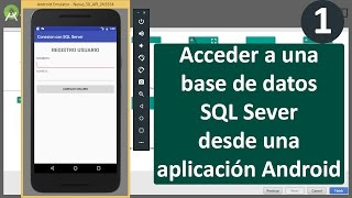 Acceso a una base de datos SQL Server desde Android (1)