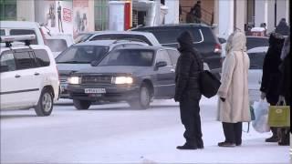 Walking in Yakutsk - Oymyakon, Siberia, Yakutia, Russia at –50C (December 2014) width=