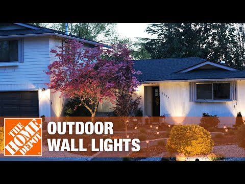 Outdoor wall lights on the exterior of a home