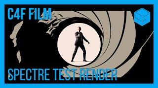 Spectre Gunbarrel Sequence Remake Test Render | C4F Film