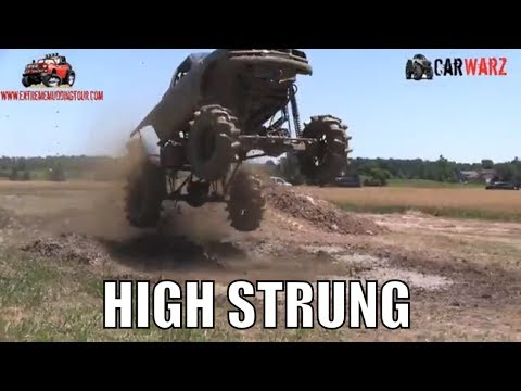 HIGH STRUNG Chevy Mega Truck Getting AIR At Red Barn Customs Mud Bog 2018