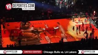 Chicago Bulls vs  LA Lakers intro November 30 United Center