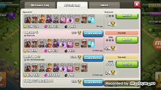 Clash of clans town hall 9 three stars with loons army