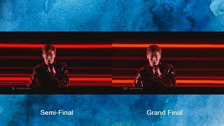 Benjamin Ingrosso - Dance You Off - Semi Final - Grand Final-Eurovision 2018 -Sweden