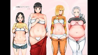 Let me touch your belly (weight gain manga) by Abunomaru chubby anime weight gain