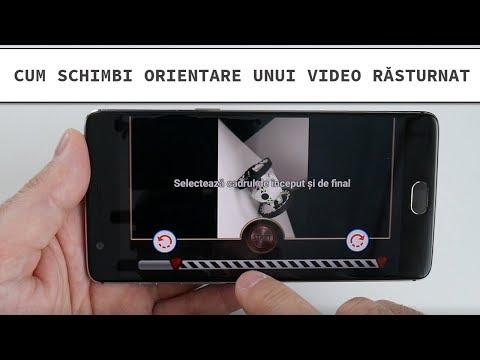 Întoarcere orientare video filmat invers pe telefon
