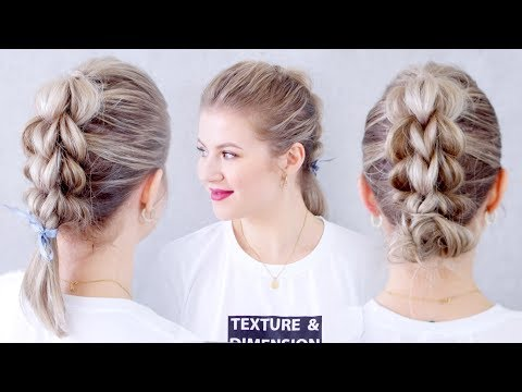How To Three Strand Pull Through Braid Hair Tutorial | Milabu