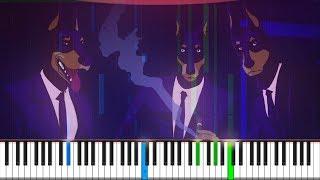 Caravan Palace - Lone Digger Piano Tutorial ♪ Synthesia + Midi ♪