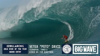 Vetea David at Teahupoo - 2016 Billabong Ride of the Year Entry - WSL Big Wave Awards