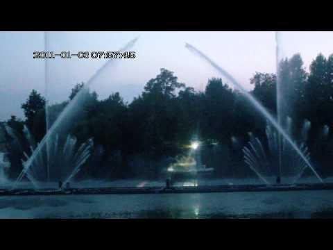 Вінниця,фонтан на набережній Рошен