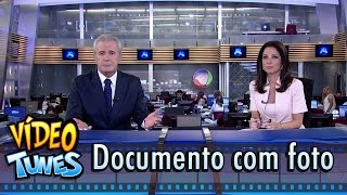 Gafes da TV - Documento com foto