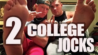 TWO COLLEGE JOCKS