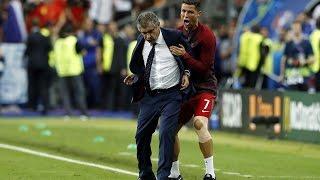 Cristiano Ronaldo crazy celebration after portugal win euro 2016