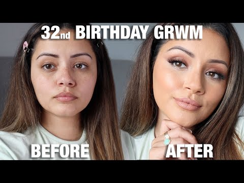 MY 32nd BIRTHDAY MAKEUP GET READY WITH ME
