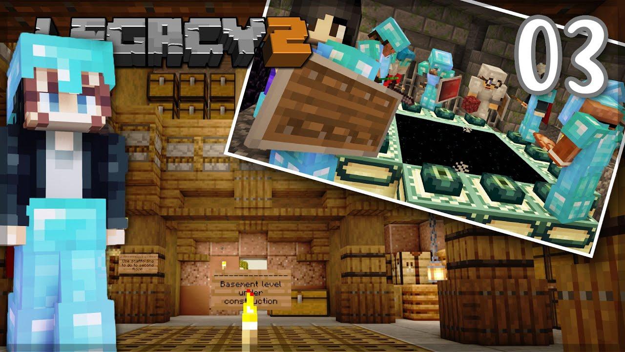 PearlescentMoon - Building, Bastion Raids and Dragon Time! | LegacySMP: Episode 03 1.16 Minecraft Survival Let's Play