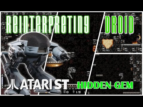 Thumbnail of the video Reinterpreting DROID - Enhancing the classic platorm shooter for the Atari STe