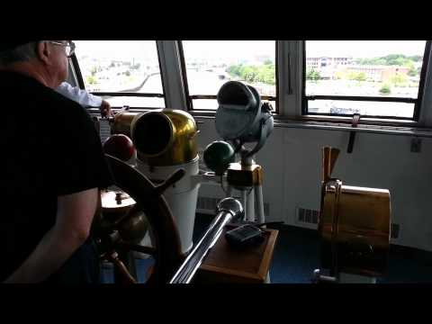 Captain Curtis Bringing The S.S. Badger Into The Manitowoc, Wisconsin Harbor