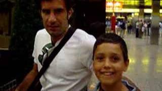 Jose Miguel e Luis Figo