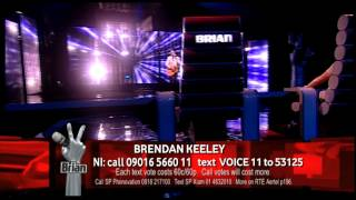 Brendan Keeley - The Whole Of The Moon - Live Show 1, Team Brian