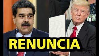 URGENTE!! CARTA DE RENUNCIA DE NICOLAS MADURO, CARTA ENVIADA POR DONALD TRUMP, VENEZUELA