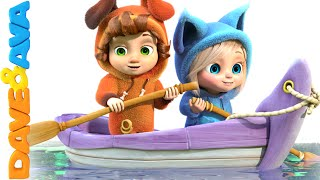 Row Row Row Your Boat | Nursery Rhymes and Baby Songs from Dave and Ava