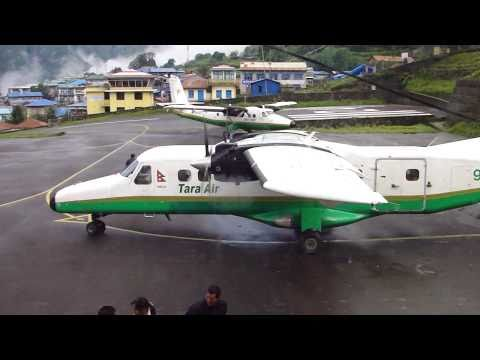 DHC-6 Twin Otter taxiing; Lukla, Nepal