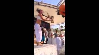 "Lovely Laura ''Klingande Jubel"" Sax Solo at Ocean Beach, Ibiza"